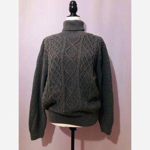 Oscar de la Renta Cable Knit Turtleneck Sweater